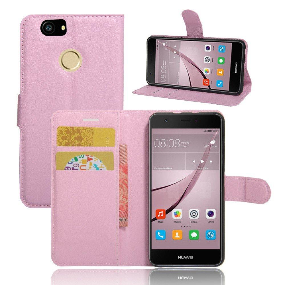 Billede af Huawei Nova PU Læder FlipCover m. Kortholder - Pink