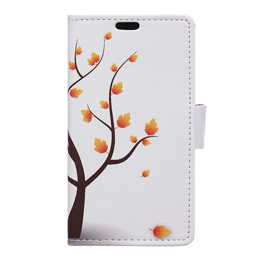Image of Huawei Nova PU Læder FlipCover m. Kortholder - Autumn Maple Tree