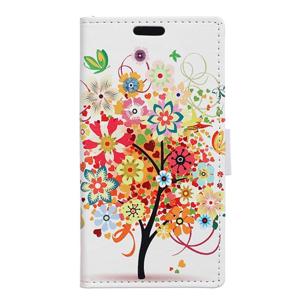 Billede af Huawei Nova PU Læder FlipCover m. Kortholder - Colorful Tree