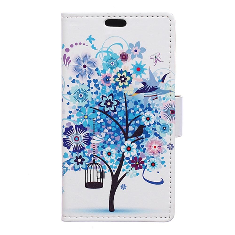 Billede af Huawei Nova PU Læder FlipCover m. Kortholder - Blue Tree