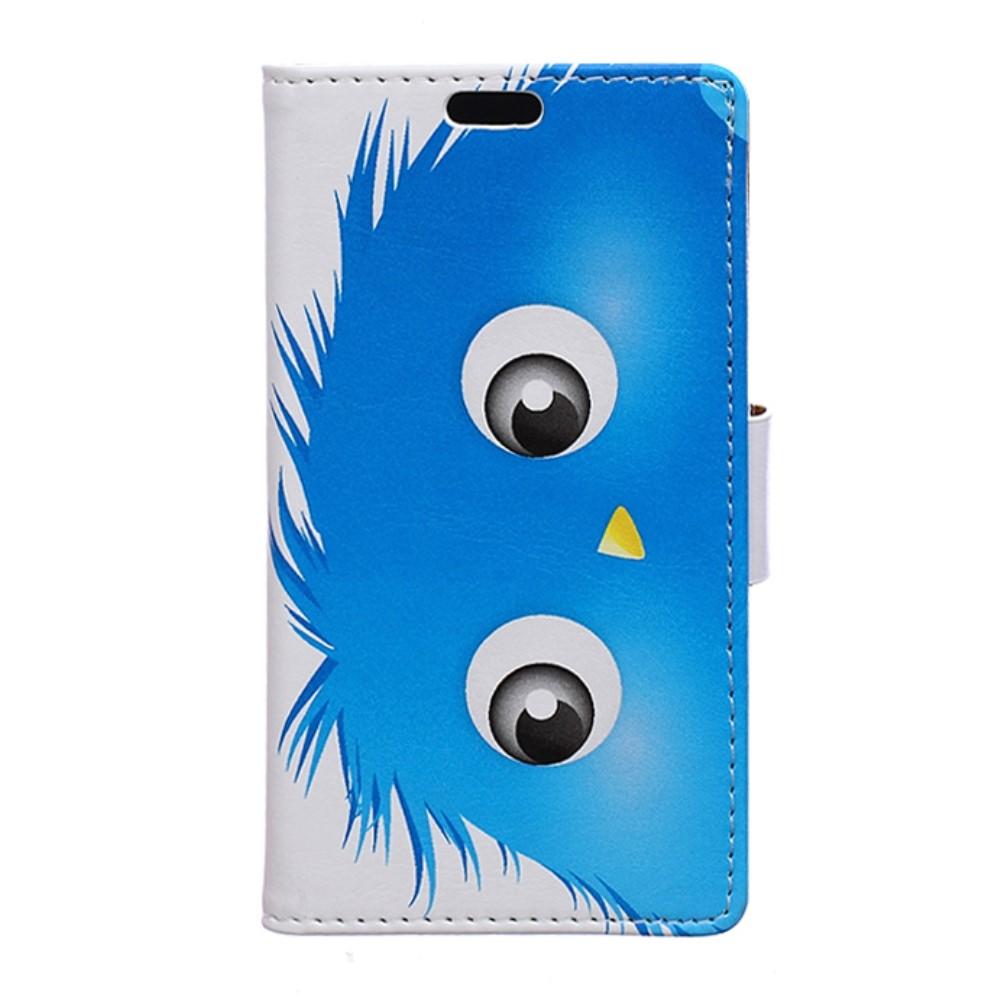 Billede af Huawei Nova PU Læder FlipCover m. Kortholder - Blue Hairy Doll