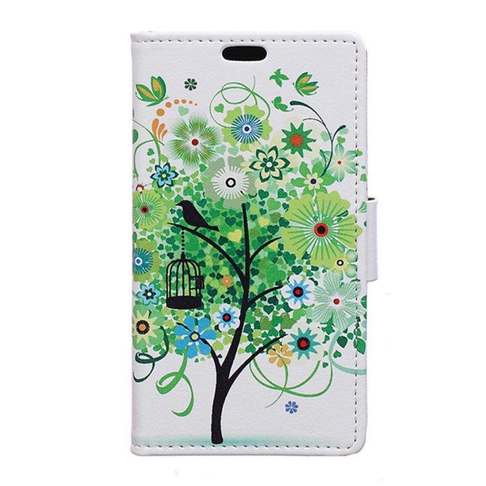 Billede af Huawei Nova PU Læder FlipCover m. Kortholder - Green Tree