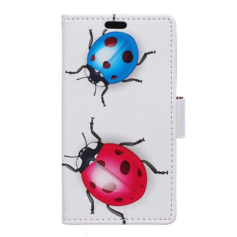 Billede af Huawei Nova PU Læder FlipCover m. Kortholder - Ladybugs