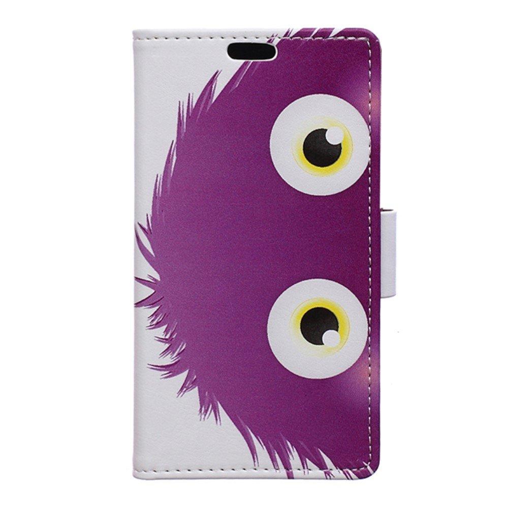 Billede af Huawei Nova PU Læder FlipCover m. Kortholder - Purple Hairy Doll