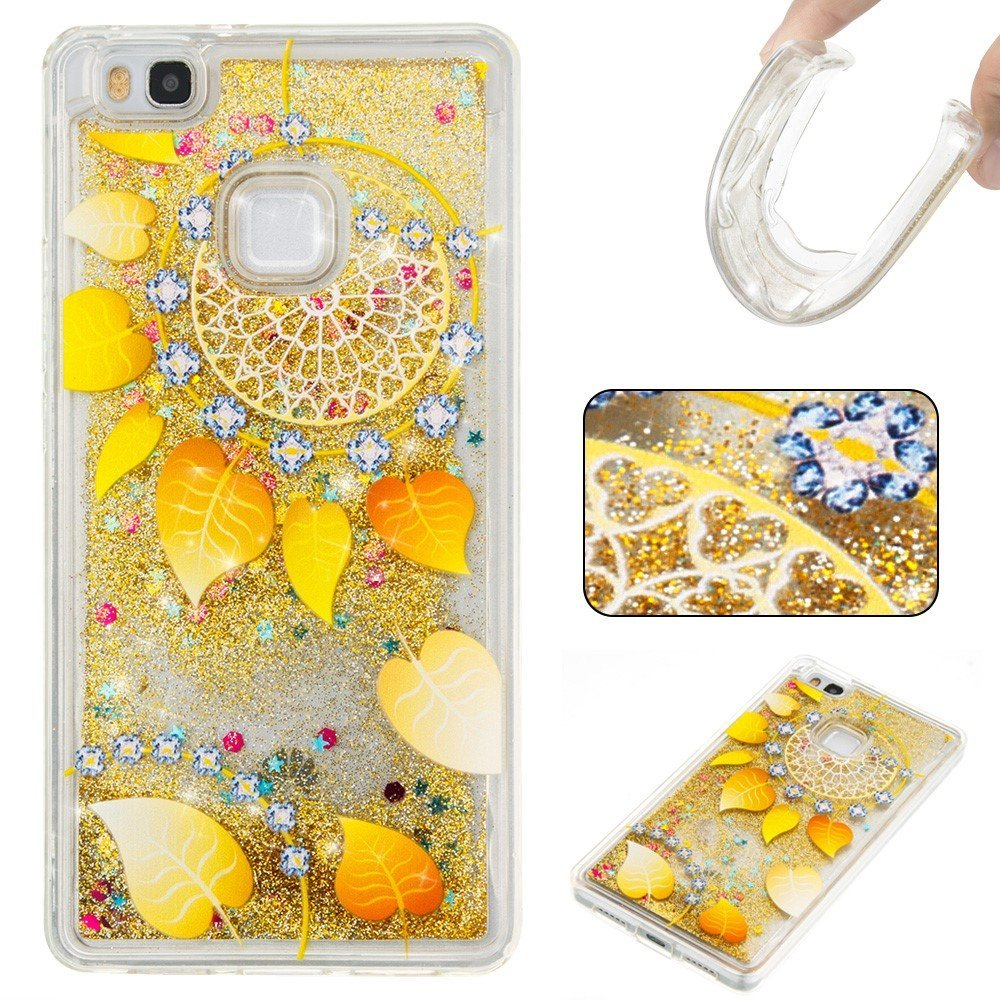 Image of Huawei P9 Lite InCover Glossy Liquid TPU Cover - Gold Dream Catcher