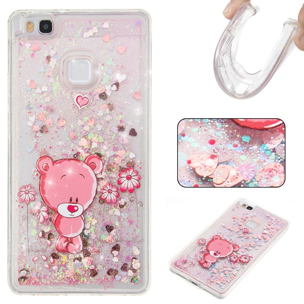 Billede af Huawei P9 Lite InCover Glossy Liquid TPU Cover - Pink Bear