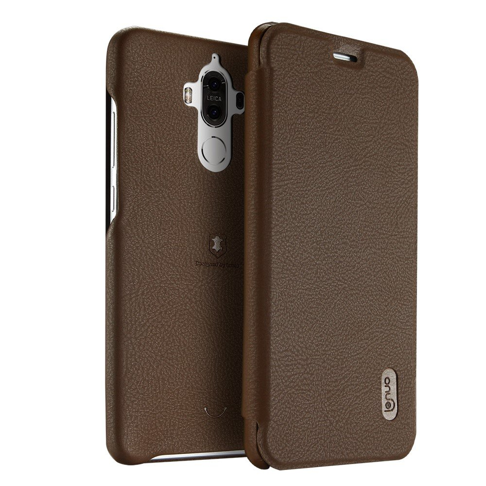 Image of   Huawei Mate 9 LENUO læder FlipCover - Coffee