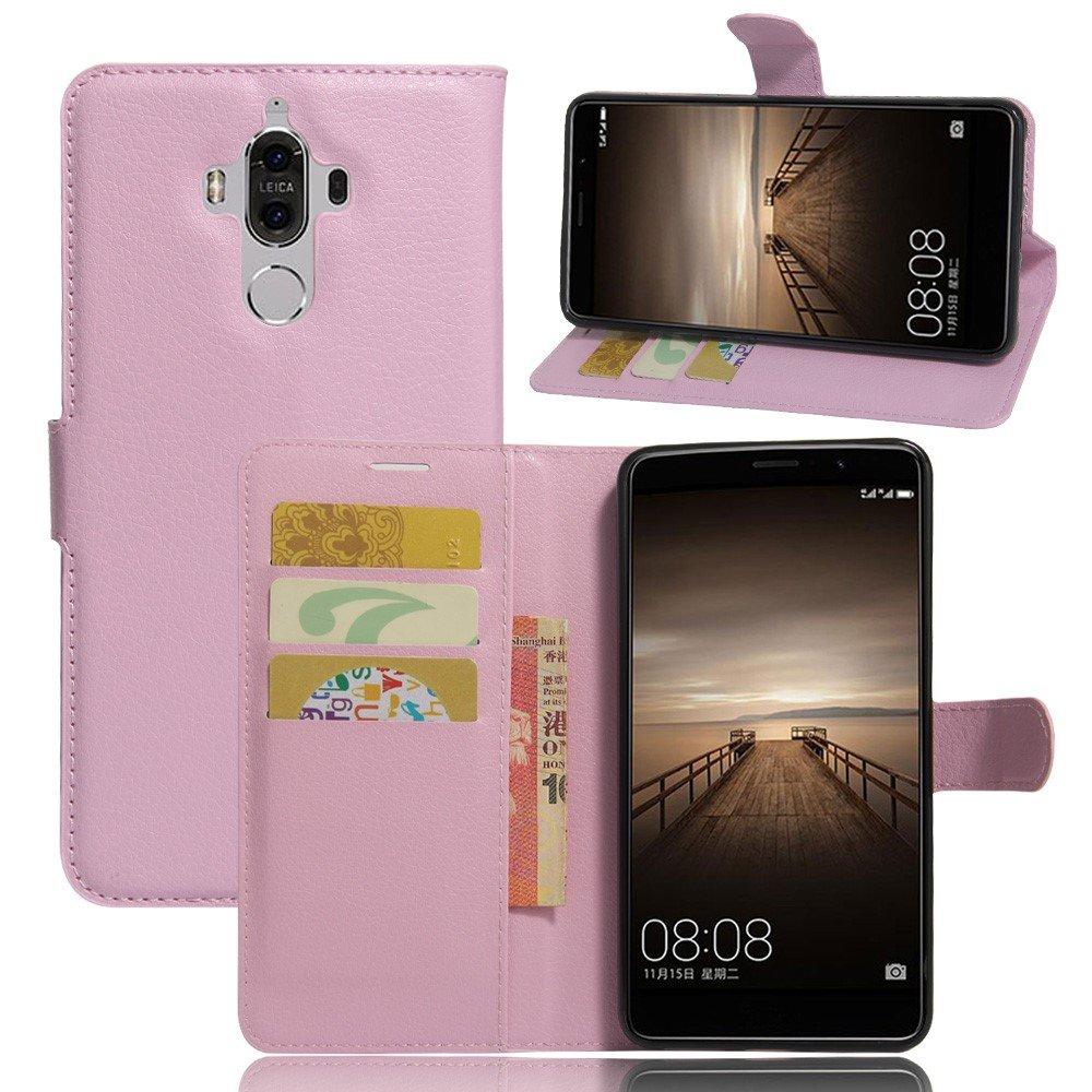 Image of   Huawei Mate 9 PU Læder FlipCover m. Kortholder - Pink