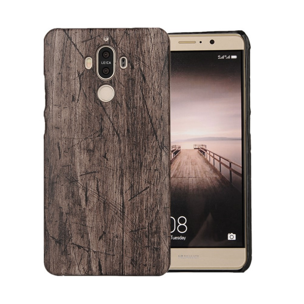 Image of   Huawei Mate 9 InCover PU læder Cover - Wood Texture