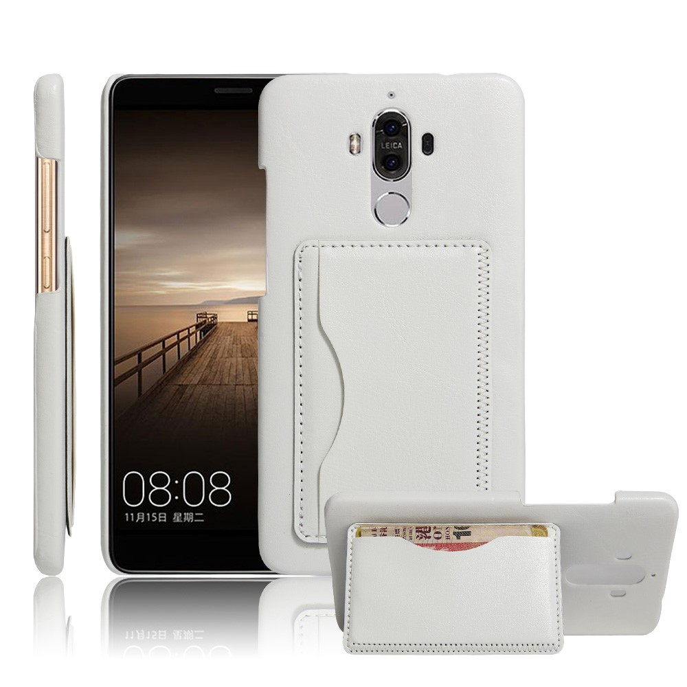 Image of   Huawei Mate 9 Læder Bagcover m. Stand - Hvid