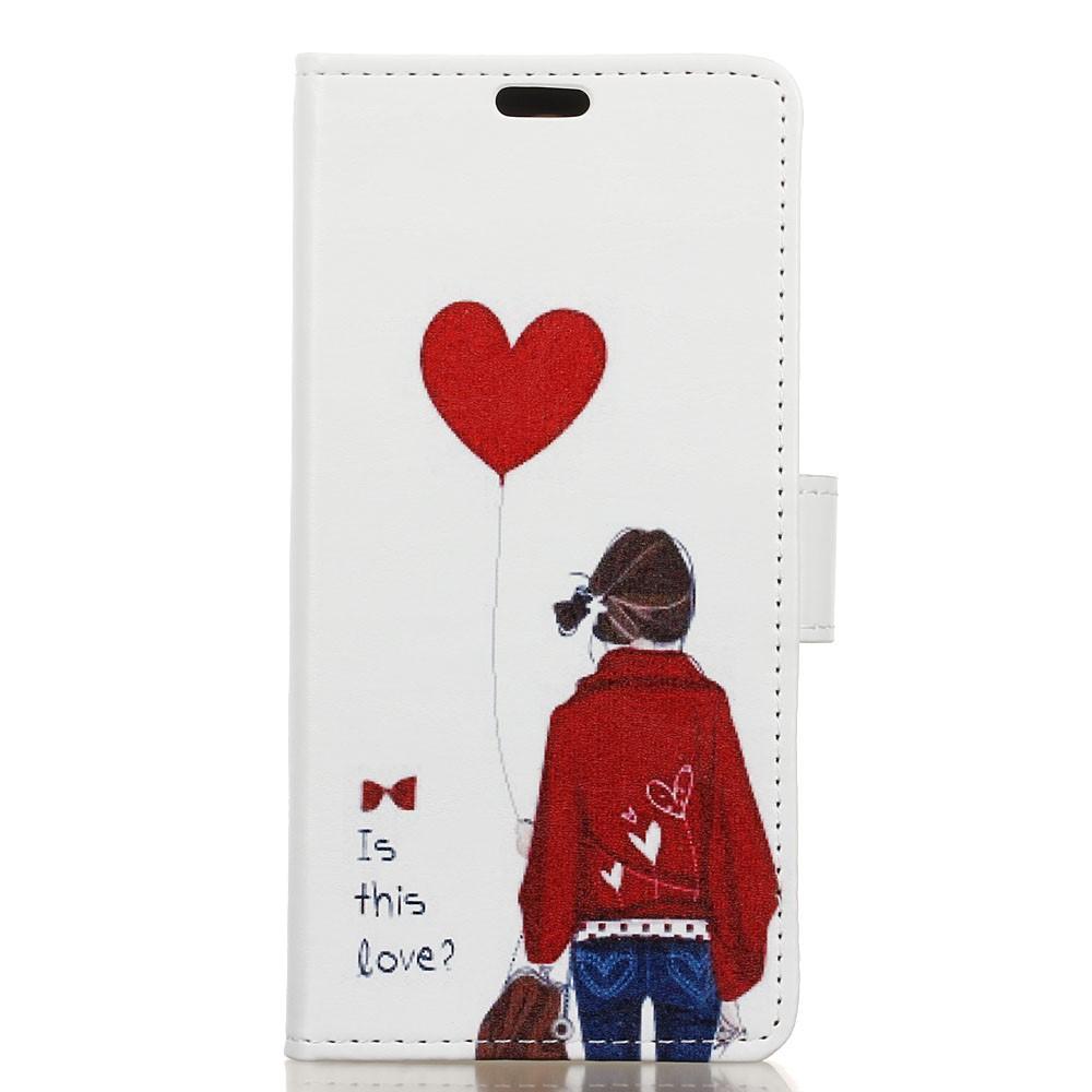 Billede af Huawei Mate 9 Pro/Porsche PU Læder Flip Cover Med Pung - Is this Love