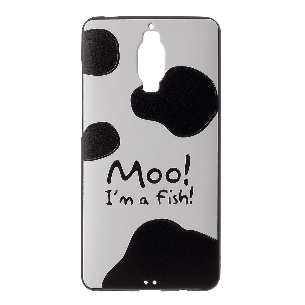 Billede af Huawei Mate 9 Pro/Porsche InCover Premium TPU Cover - Moo I am a Fish