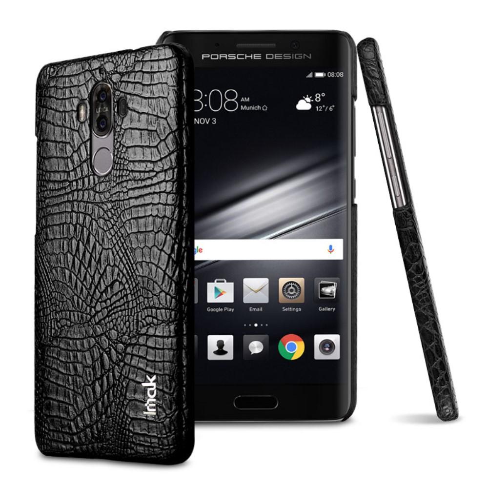 Image of   Huawei Mate 9 IMAK Plastik Cover m. PU læder - Sort Krokodille