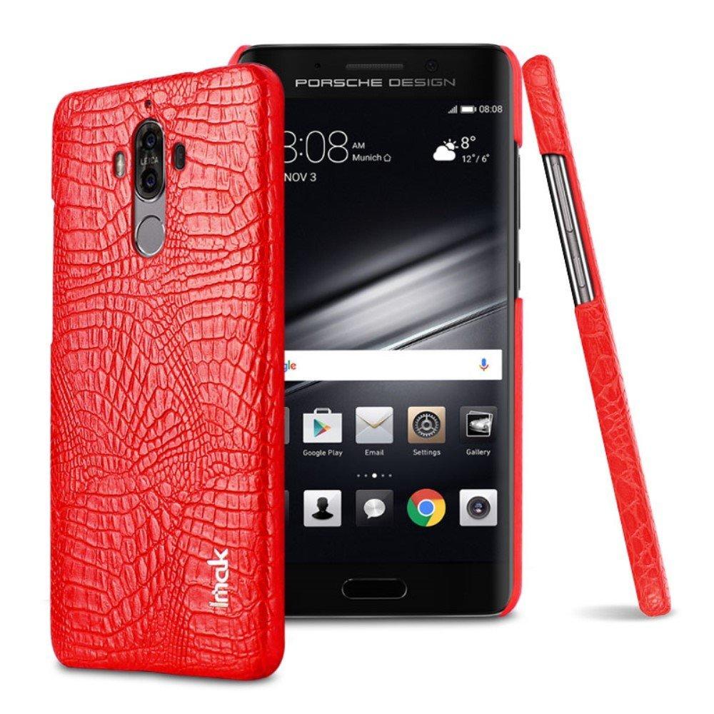 Image of   Huawei Mate 9 IMAK Plastik Cover m. PU læder - Rød Krokodille