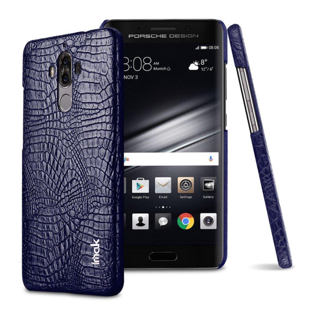 Image of   Huawei Mate 9 IMAK Plastik Cover m. PU læder - Blå Krokodille