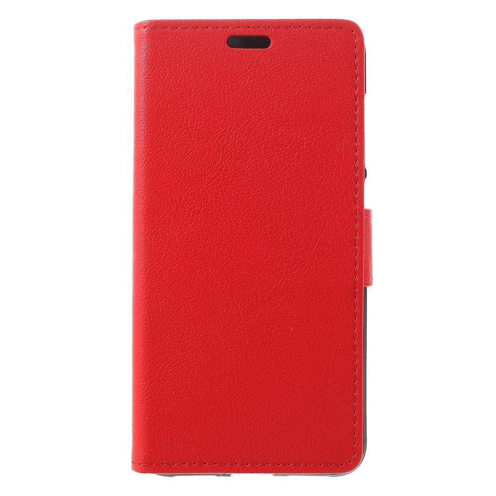 Billede af Huawei Honor 8 Lite PU læder FlipCover m. Kortholder - Rød