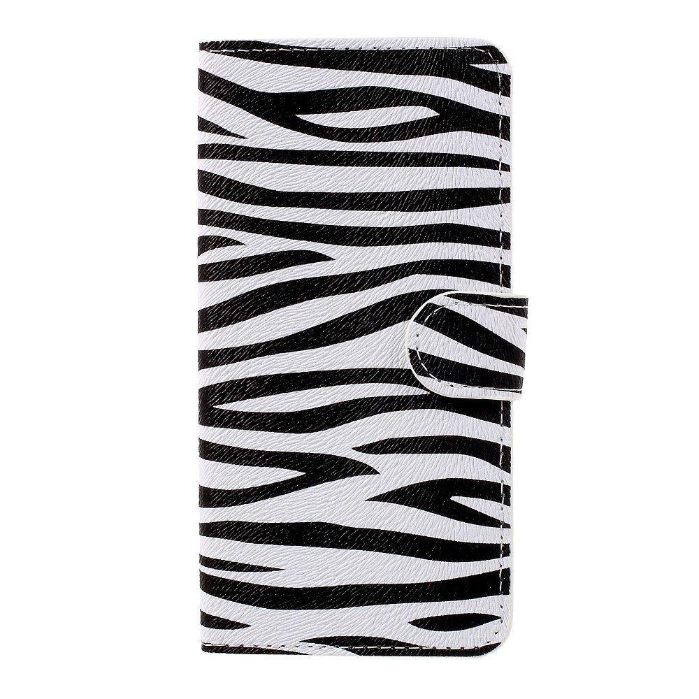 Billede af Huawei Honor 8 Lite PU læder FlipCover m. Kortholder - Zebra