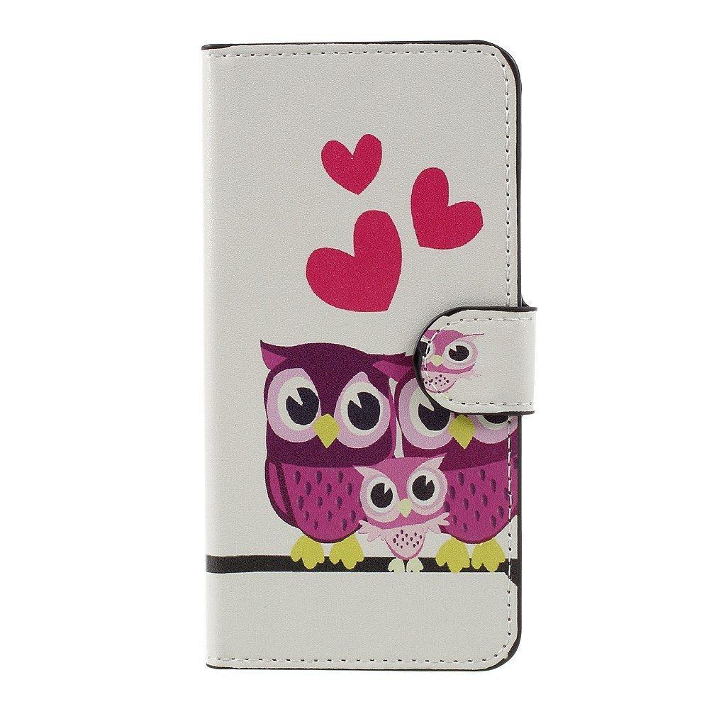 Billede af Huawei Honor 8 Lite PU læder FlipCover m. Kortholder - Love Owls