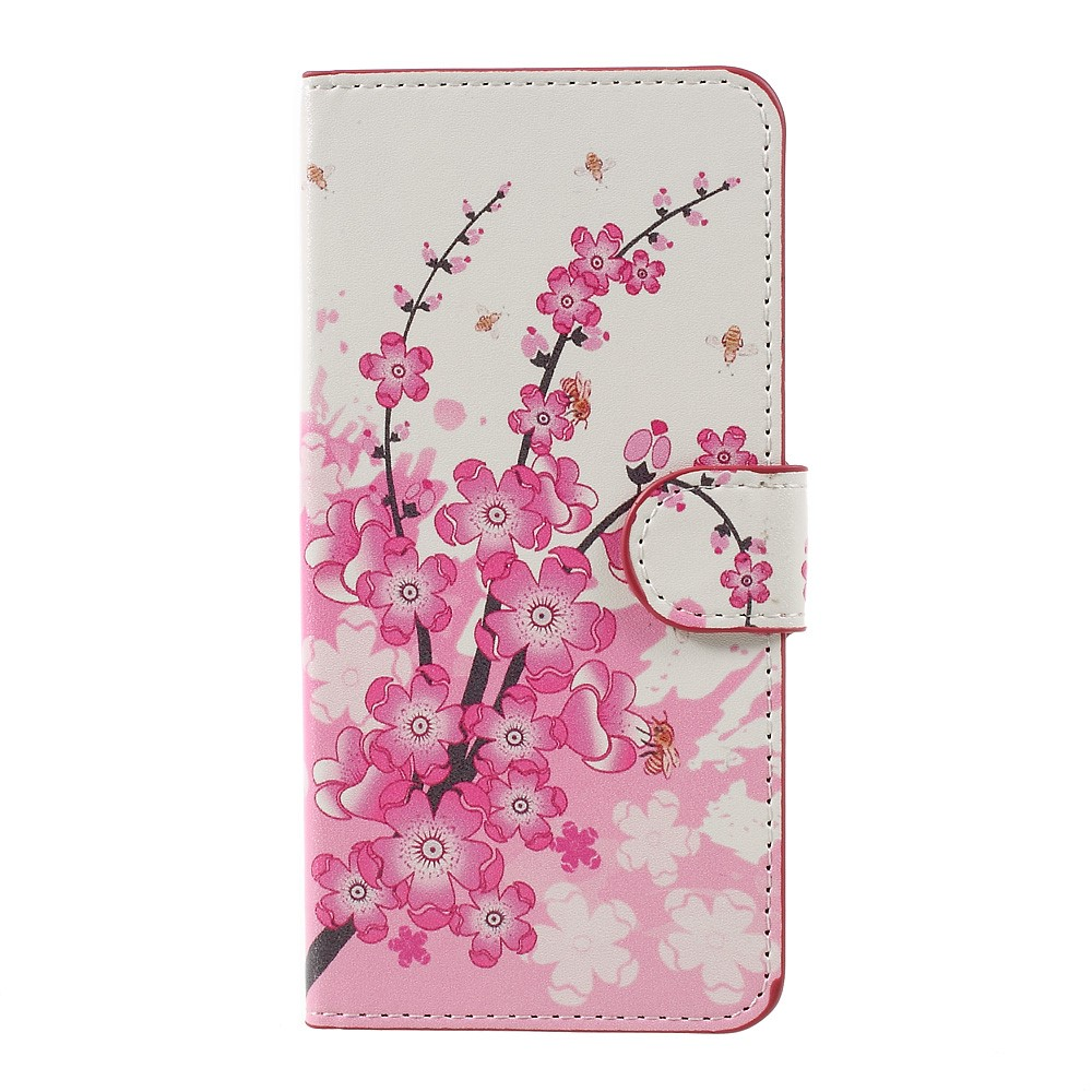 Billede af Huawei Honor 8 Lite PU læder FlipCover m. Kortholder - Plum Blossom