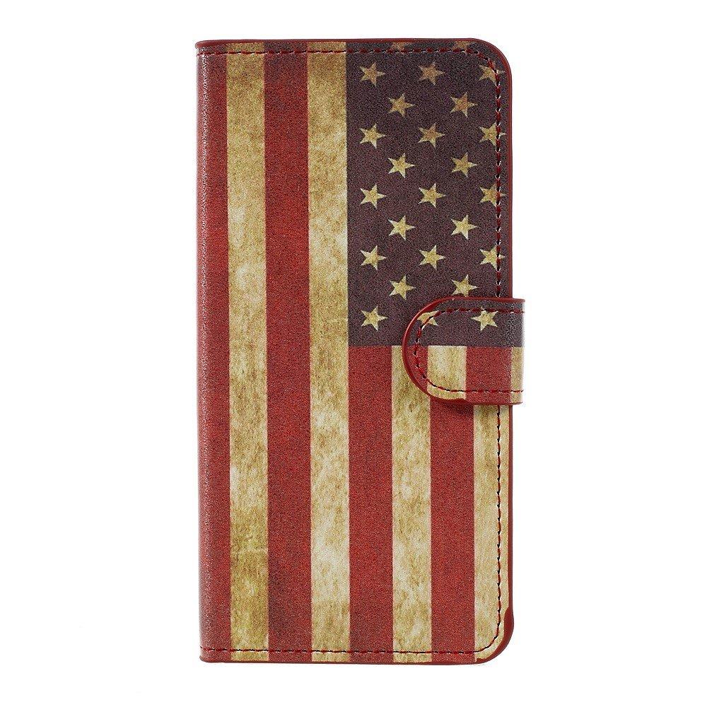 Billede af Huawei Honor 8 Lite PU læder FlipCover m. Kortholder - US Flag
