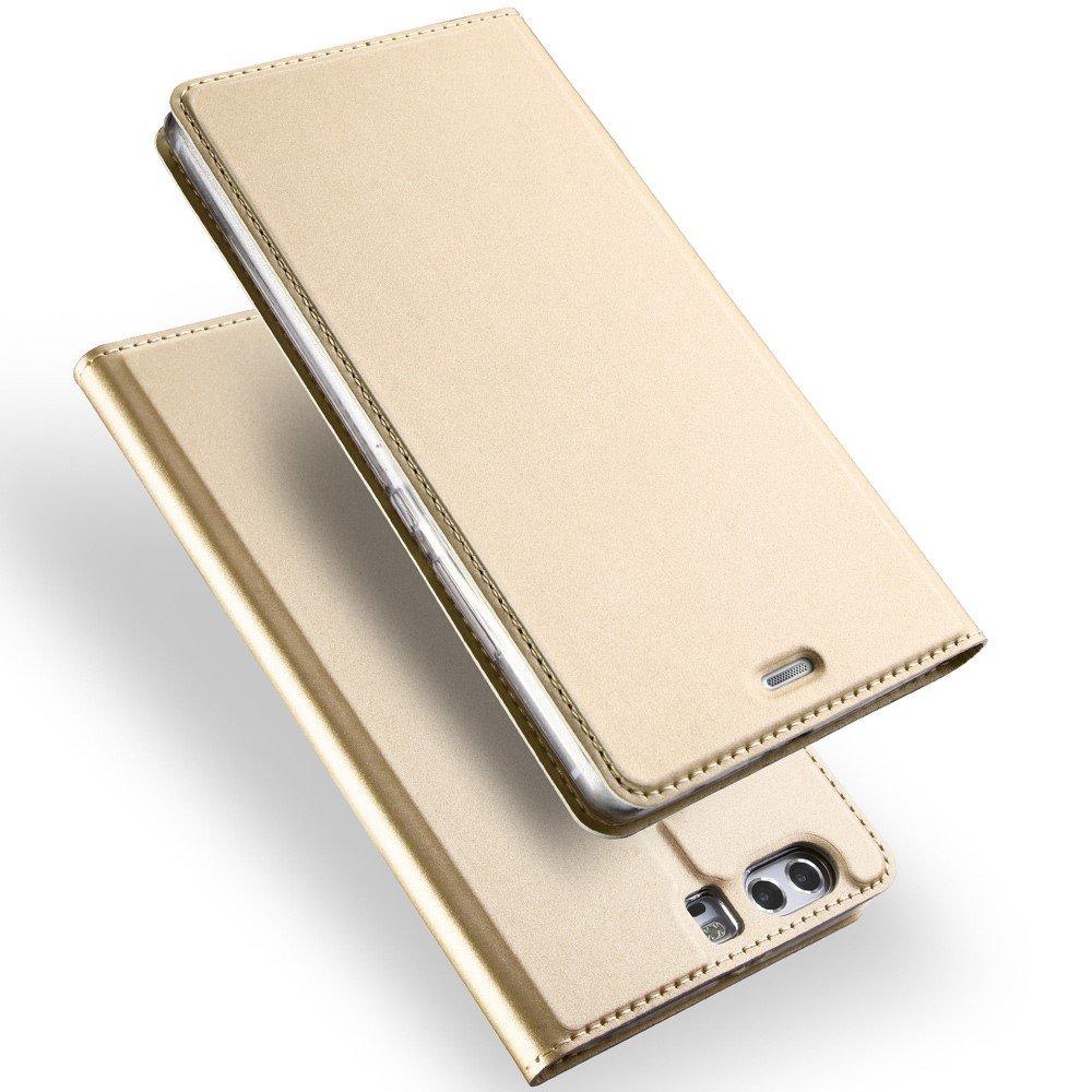 Billede af Huawei P10 Plus DUX DUCIS FlipCover m. Kortholder - Guld