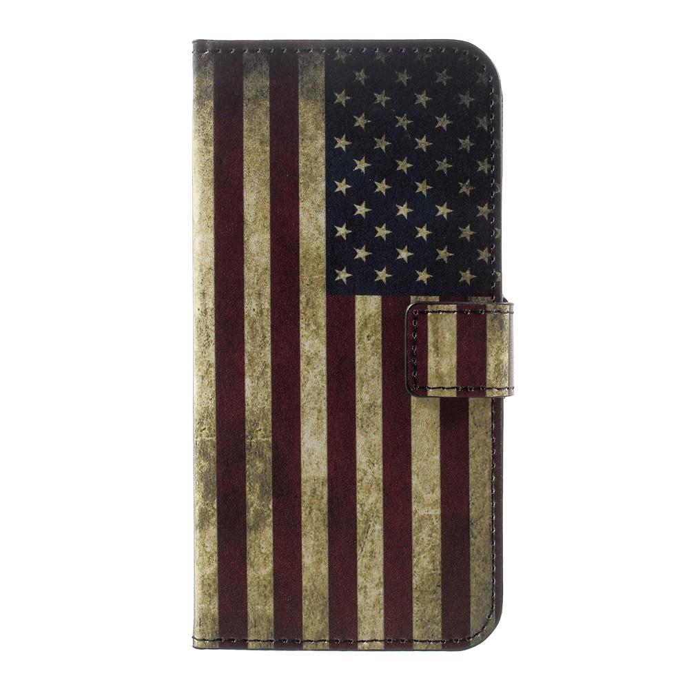 Billede af Huawei P10 PU læder FlipCover m. Kortholder - US Flag