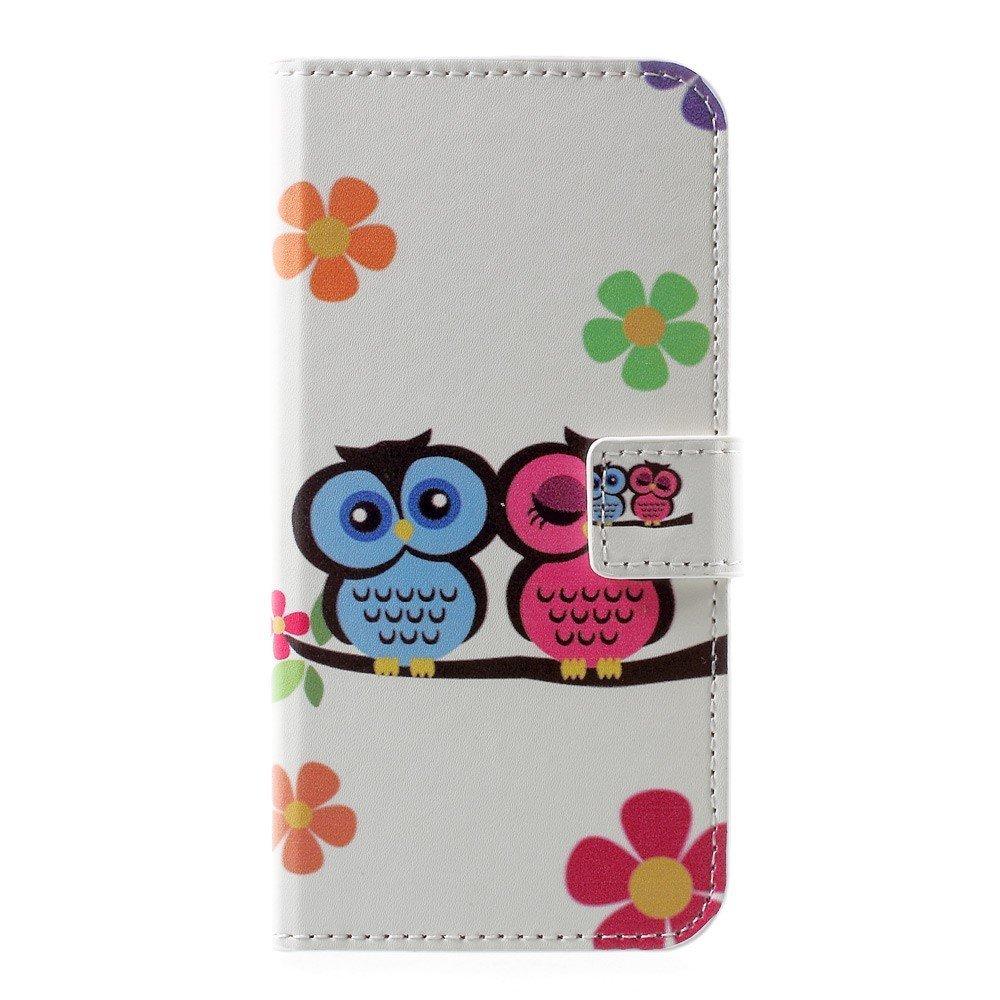 Billede af Huawei P10 PU læder FlipCover m. Kortholder - Love Owls