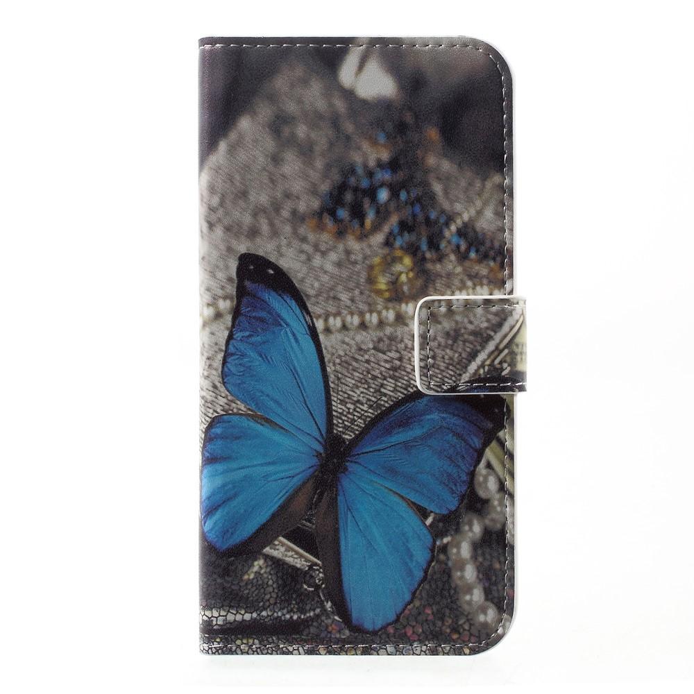 Billede af Huawei P10 PU læder FlipCover m. Kortholder - Blue Butterfly