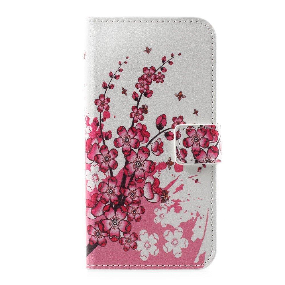 Billede af Huawei P10 PU læder FlipCover m. Kortholder - Plum Blossom