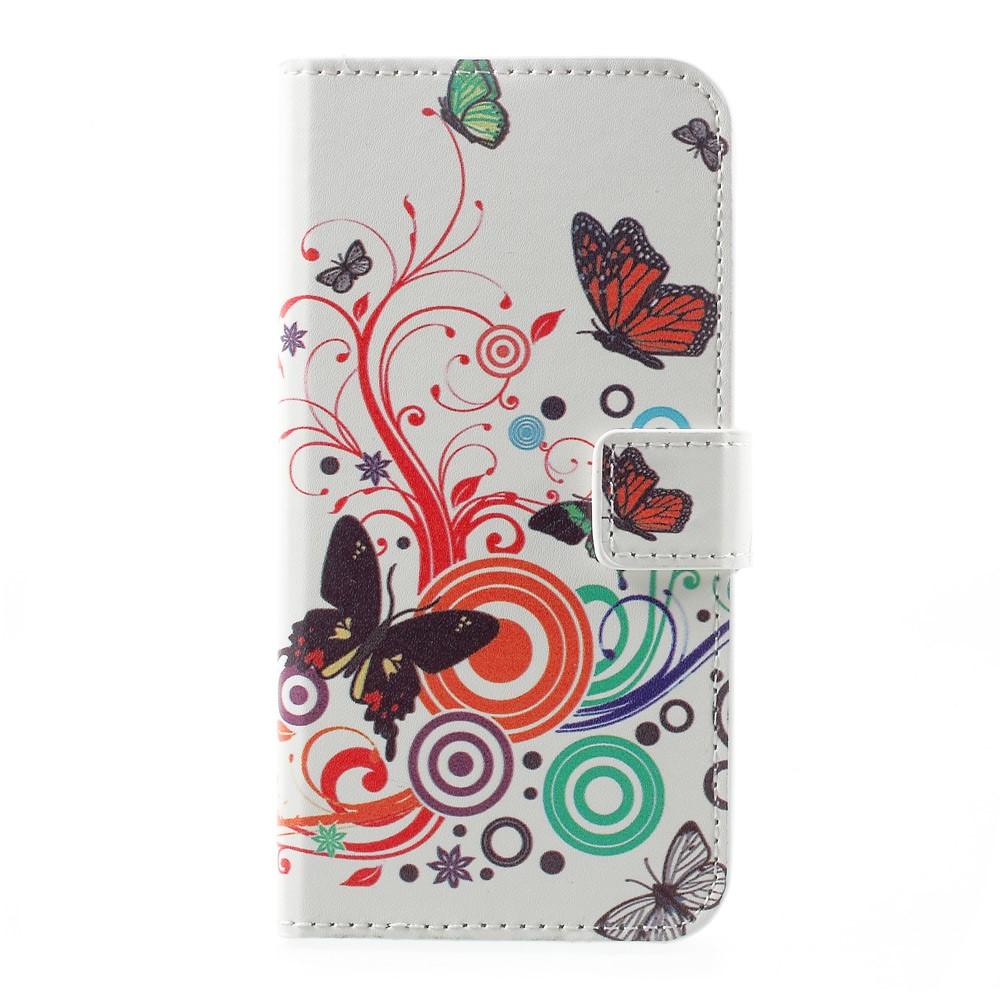 Billede af Huawei P10 PU læder FlipCover m. Kortholder - Butterflies and Circles