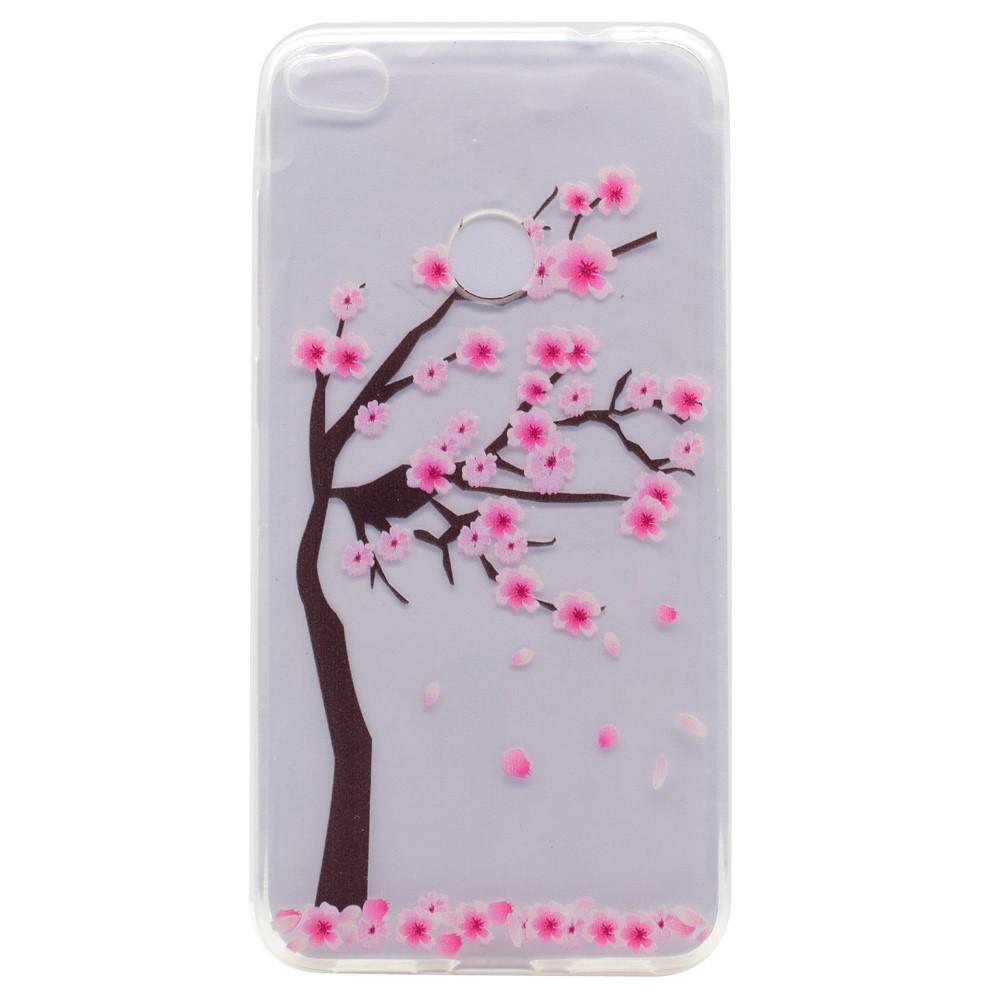 Billede af Huawei Honor 8 Lite InCover TPU Cover - Træ med Blomster