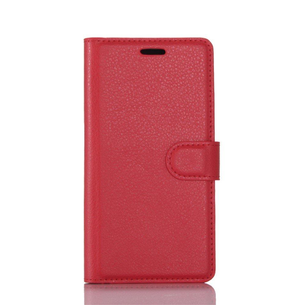 Billede af Huawei P10 PU læder FlipCover m. Kortholder - Rød