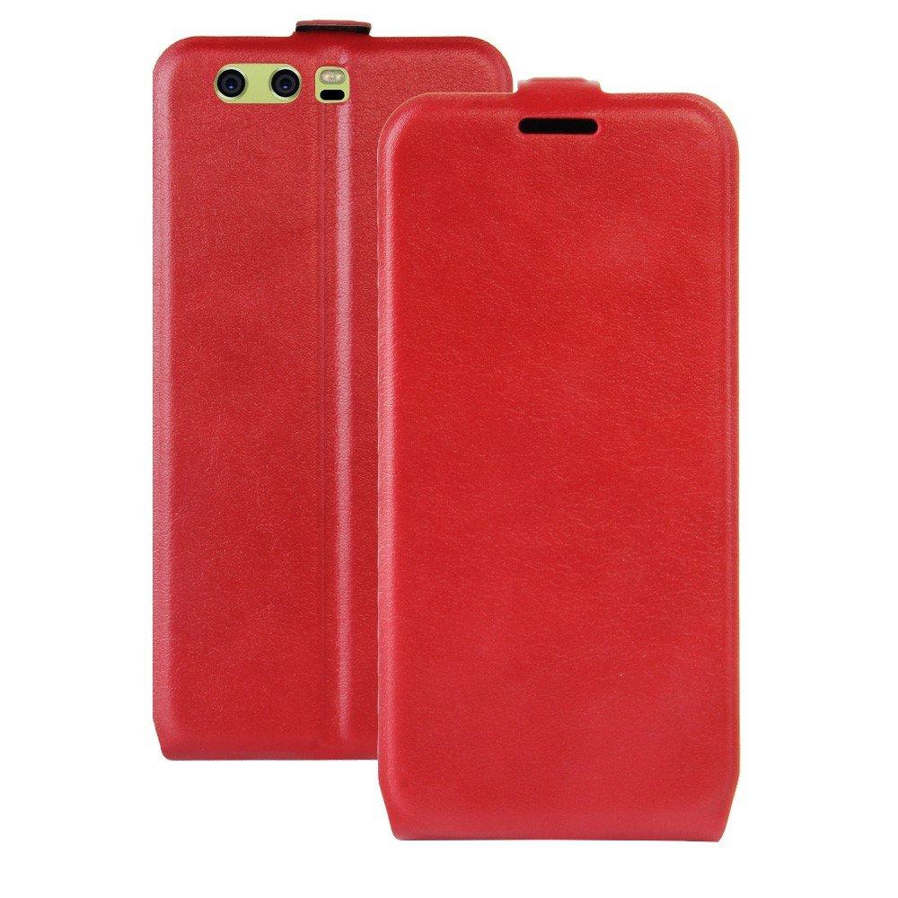 Billede af Huawei P10 Plus PU læder Vertikal Flipcover - Rød