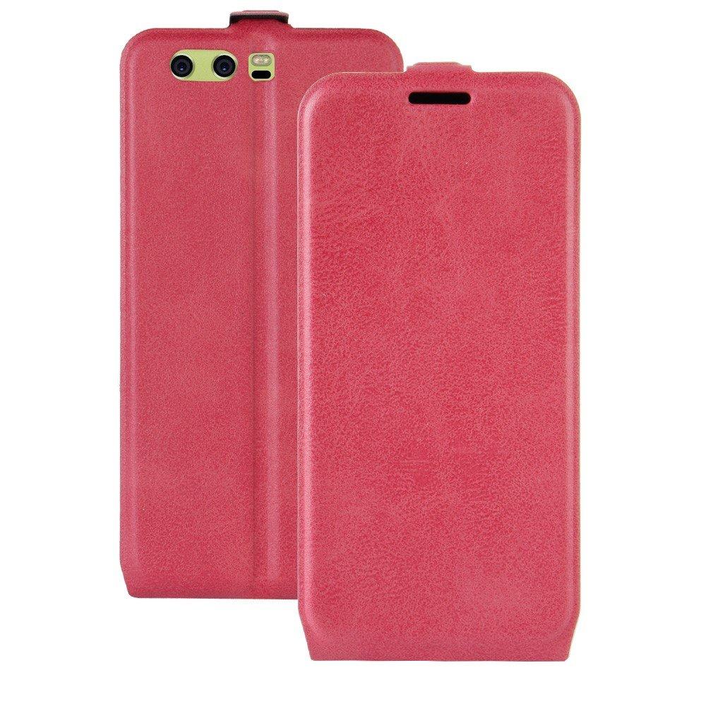 Billede af Huawei P10 Plus PU læder Vertikal Flipcover - Pink