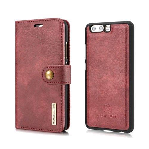 Billede af Huawei P10 2 i 1 Split læder Flipcover m. Pung - Rød