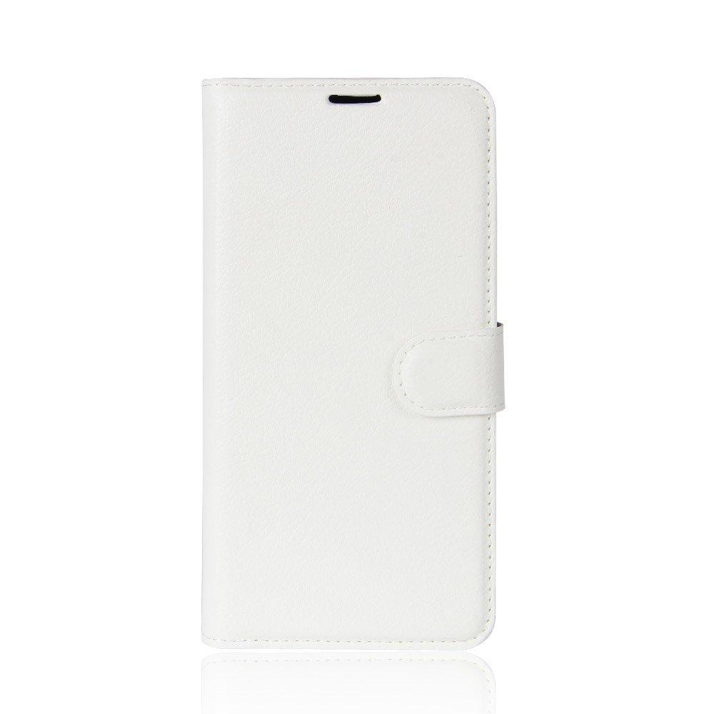 Image of Huawei Y7 PU læder Flipcover m. Kortholder - Hvid