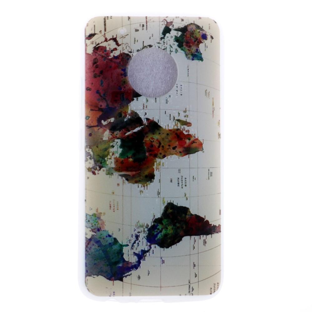 Billede af Motorola Moto G5 InCover TPU Cover - Verdenskort