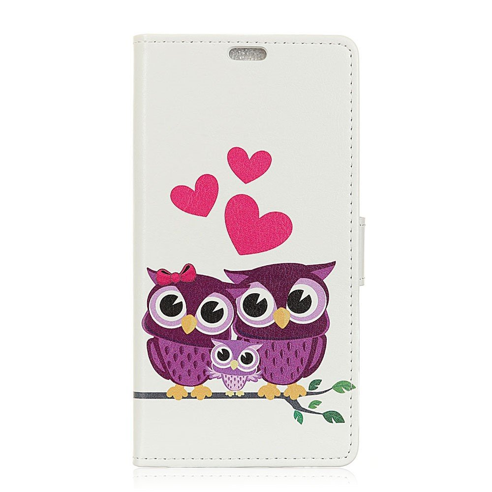Billede af Motorola Moto X4 PU læder Flipcover m. Kortholder - Owls