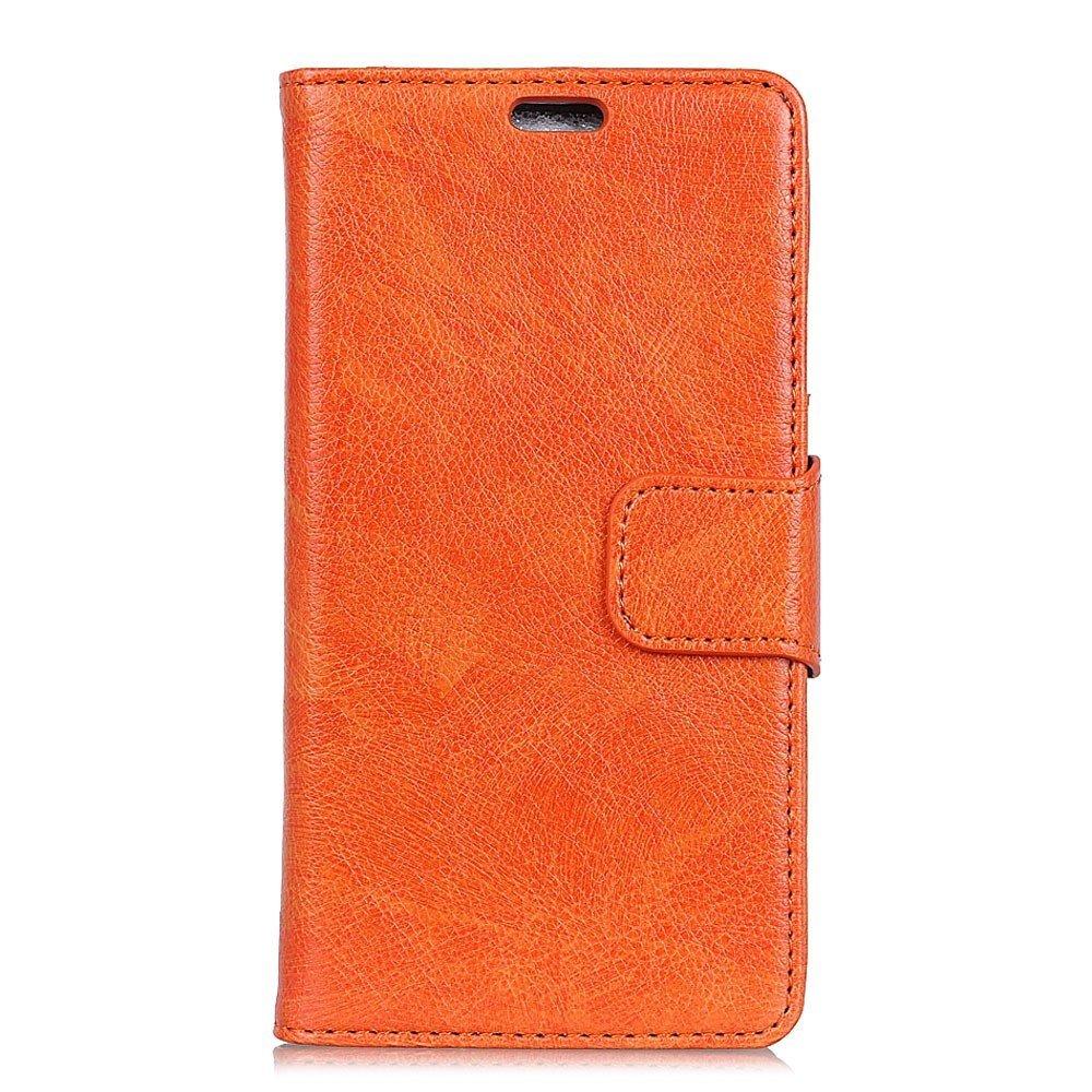 Billede af Motorola Moto X4 Flipcover i Ægte Læder m. Kortholder - Orange