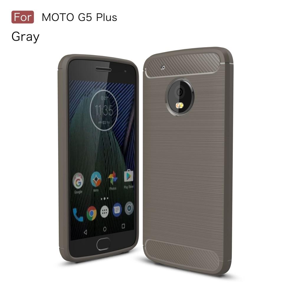 Billede af Motorola Moto G5 Plus InCover Brushed TPU Cover - Grå Carbon