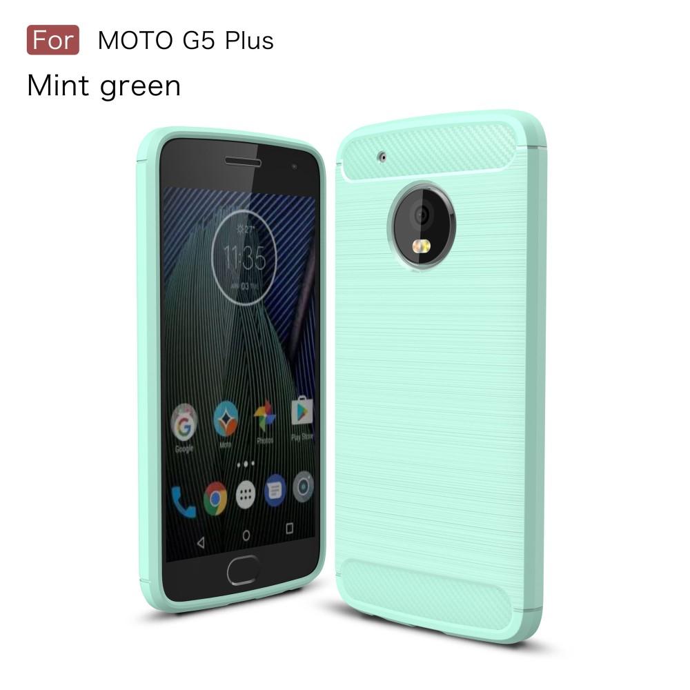 Billede af Motorola Moto G5 Plus InCover Brushed TPU Cover - Cyan Carbon