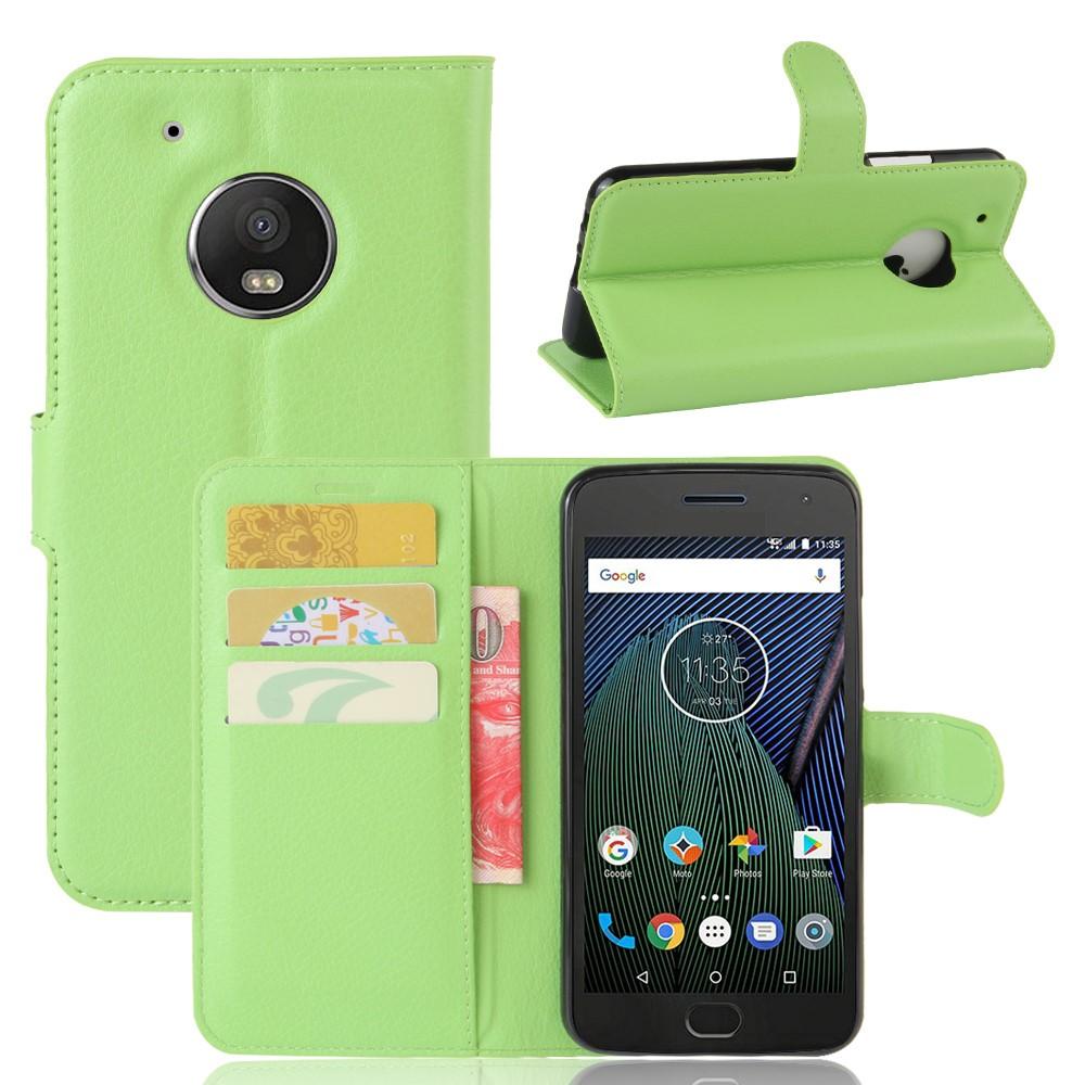 Billede af Motorola Moto G5 Plus PU læder Flipcover m. Kortholder - Grøn