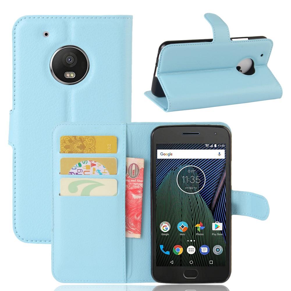 Billede af Motorola Moto G5 Plus PU læder Flipcover m. Kortholder - Blå