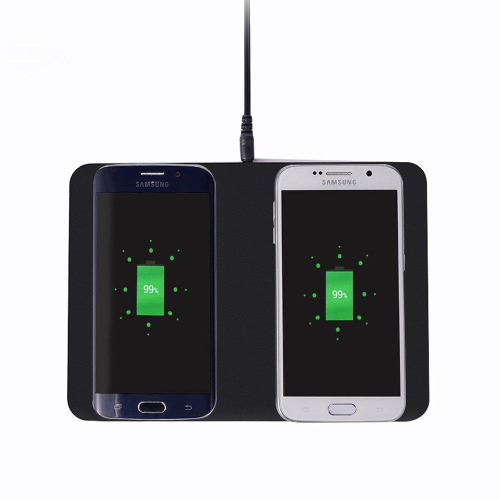 ITIAN Universal Trådløs Qi Oplader (til 2 devices) - Sort