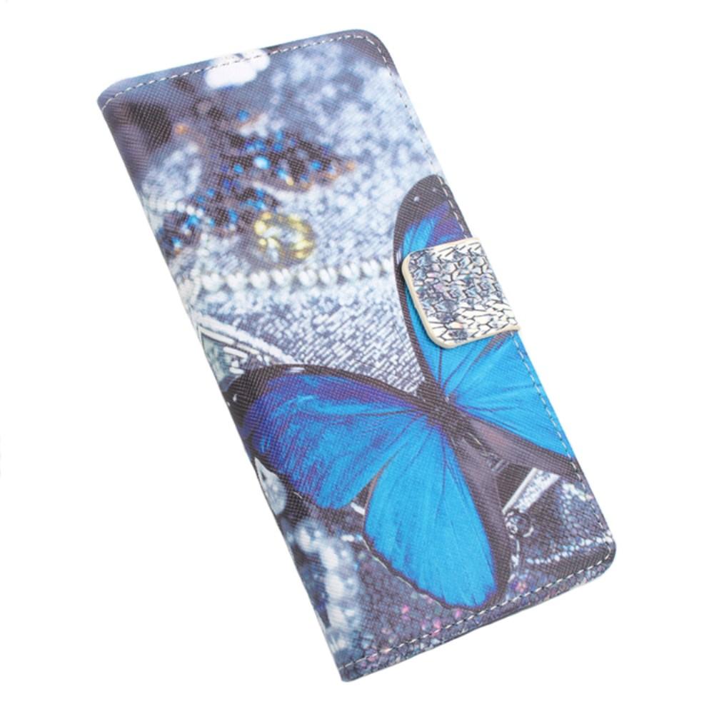 Billede af Google Pixel XL PU læder FlipCover m. Kortholder - Blue Butterfly