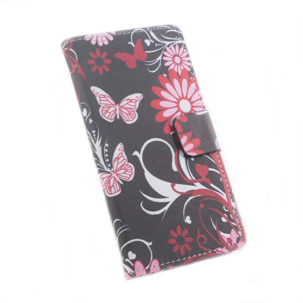 Billede af Google Pixel XL PU læder FlipCover m. Kortholder - Floral Butterfly