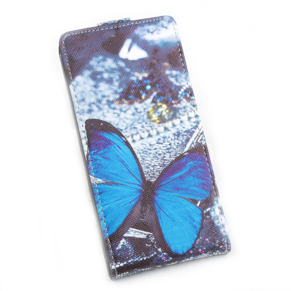 Billede af Google Pixel XL PU læder Vertikal FlipCover - Blue Butterfly
