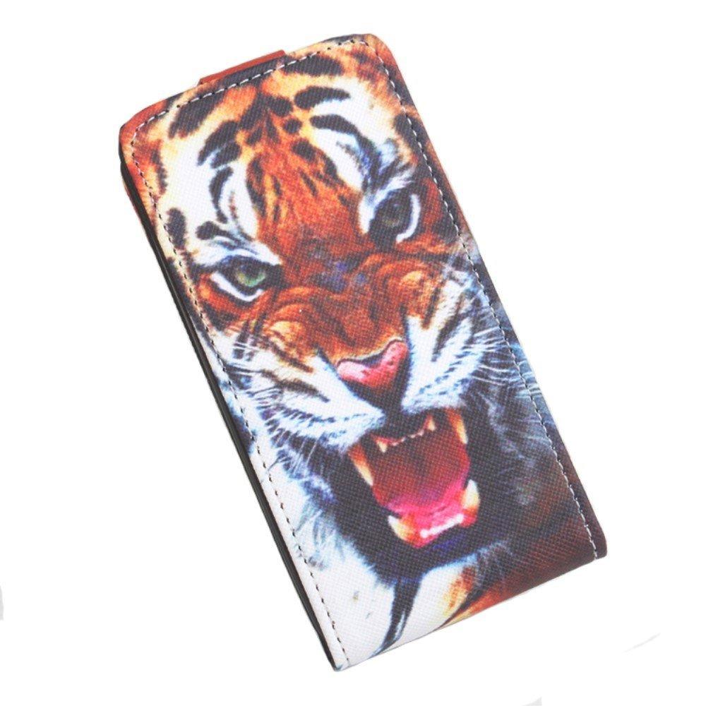 Billede af Google Pixel XL PU læder Vertikal FlipCover - Tiger
