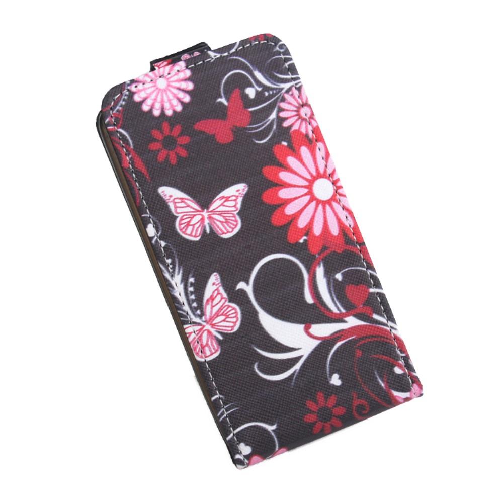 Billede af Google Pixel XL PU læder Vertikal FlipCover - Floral Butterfly