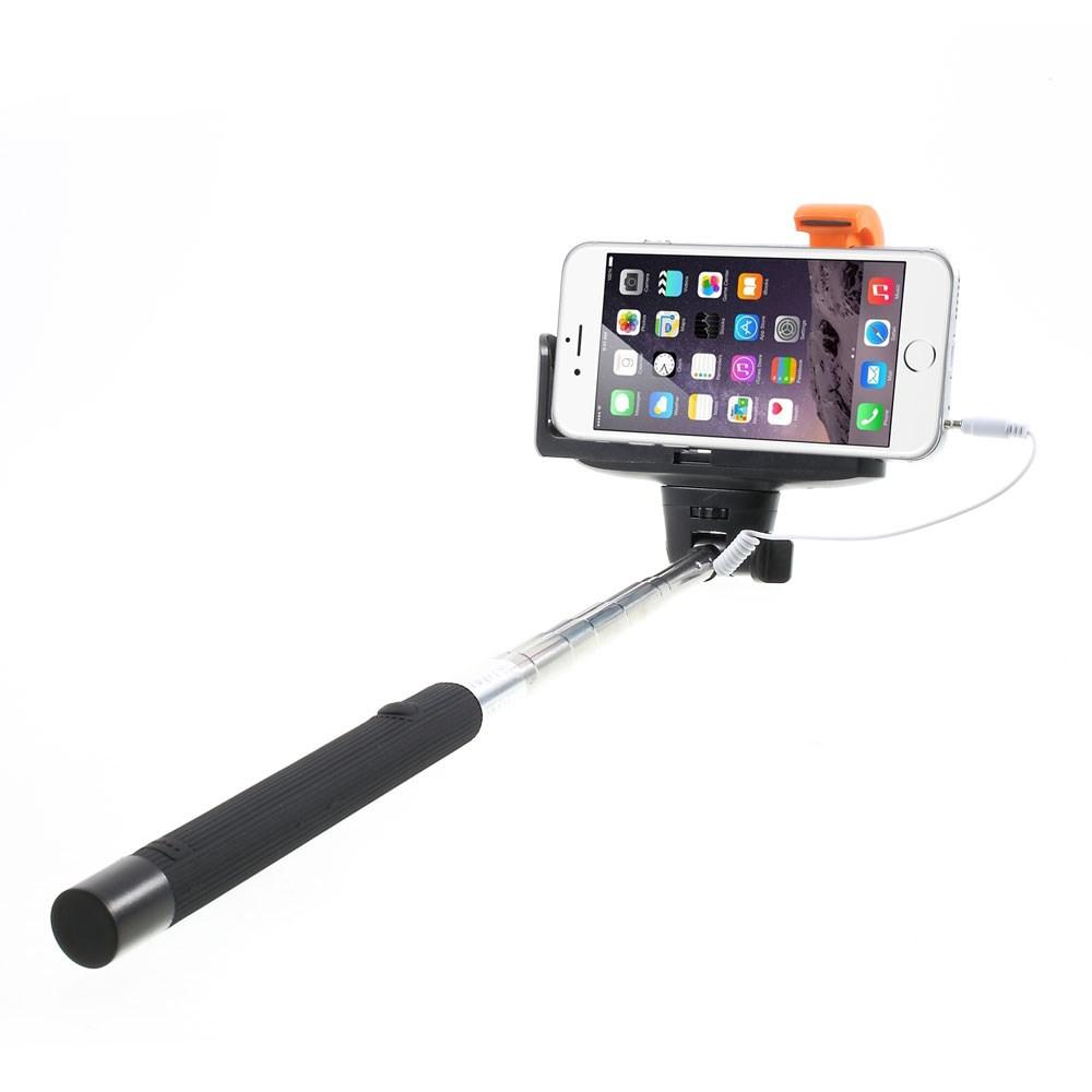 Image of   Selfie-stick justerbar m. Udløser - Sort
